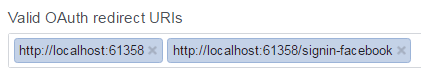 facebook valid oauth redirect uris localhost