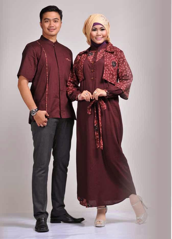 Contoh Baju Batik Seragam Keluarga Pesta Modern Terbaru