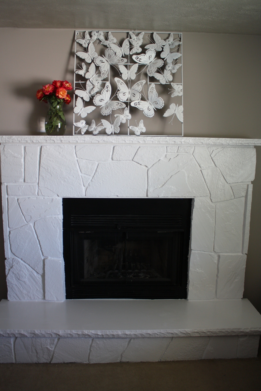Tattered Butterfly How To Paint Over A Flagstone Fireplace