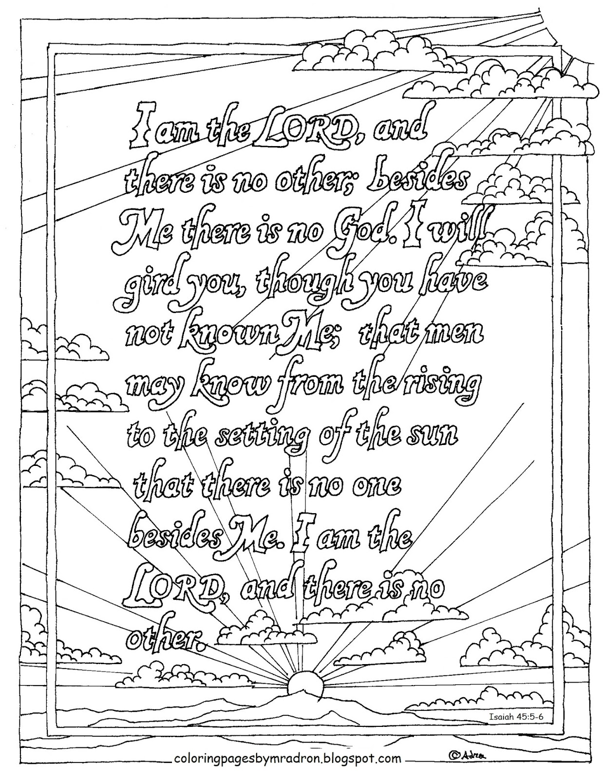 Coloring Pages For Kids By Mr Adron Printable Isaiah 45