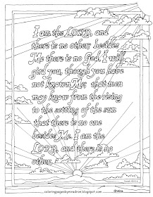 Coloring Pages for Kids by Mr. Adron: Printable Isaiah 45