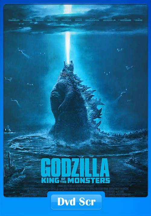 Godzilla King of the Monsters 2019 Hindi 720p HQ DVD Scr x264 | 480p 300MB | 100MB HEVC Poster