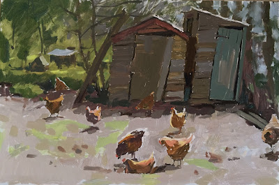 Leaning sheds and allotment hens