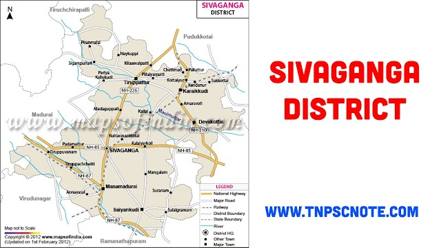 Sivaganga District Information, Boundaries and History from Shankar IAS Academy