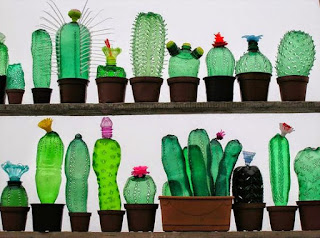botellas de plástico recicladas