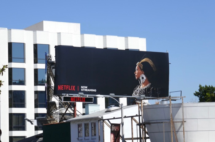 Beyoncé Homecoming Netflix billboard