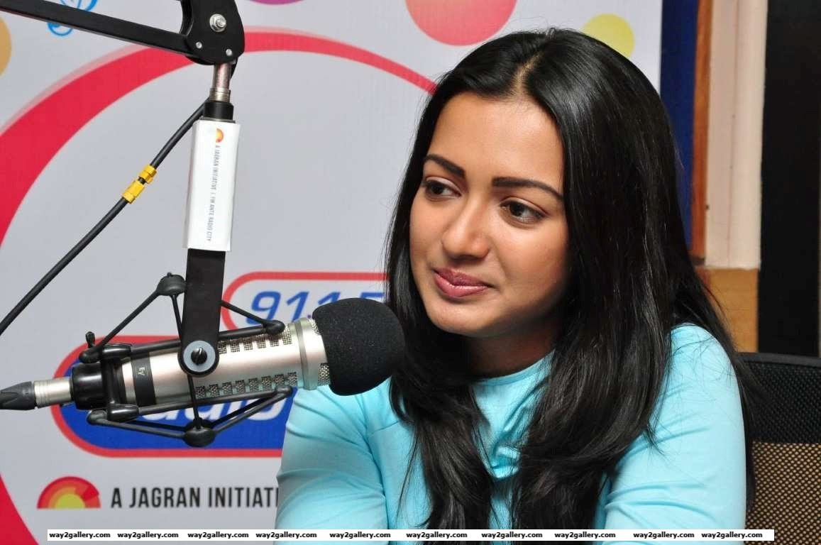 We spotted Catherine Tresa at the Radio City  FM studio