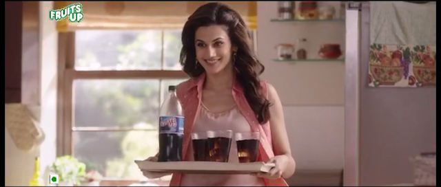 Manpasand Beverages launched its latest TVC campaign for 'Fruits Up' featuring brand ambassador Tapsee Pannu.