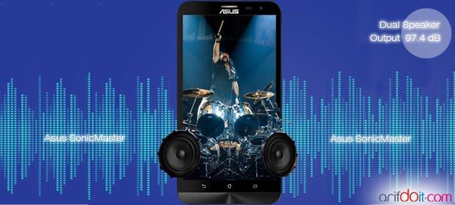 Dual speaker membuat dahsyatnya audio ZE601KL