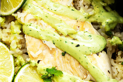 One Pot Cilantro Lime Chicken & Rice