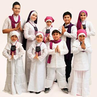 Gambar Contoh Baju Muslim Putih Couple Lebaran 2017