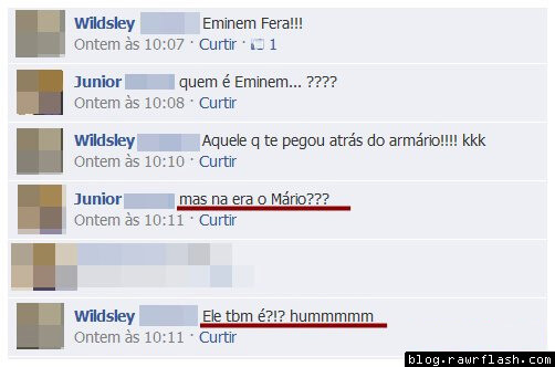 pegadinha do mario facebook print