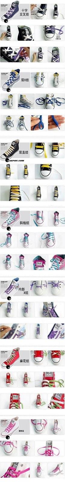 Cara Mengikat Tali Sepatu dan Model Tali Sepatu Keren Unik