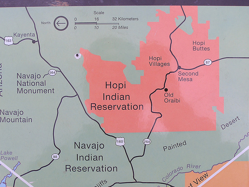 Hopi Indian Tribe Maps Location