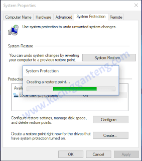 Tutorial Cara Membuat Restore Point di Windows 10