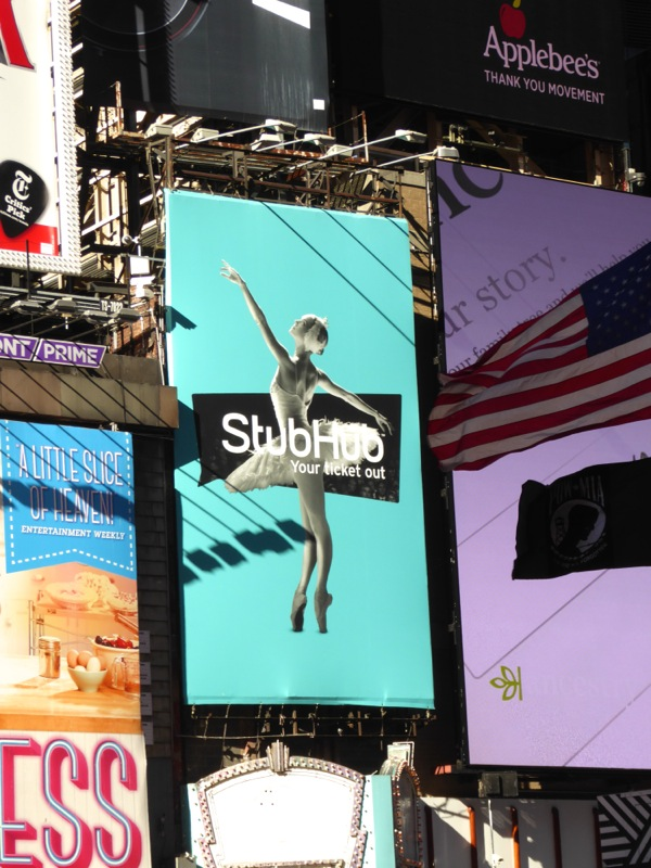StubHub billboard NYC