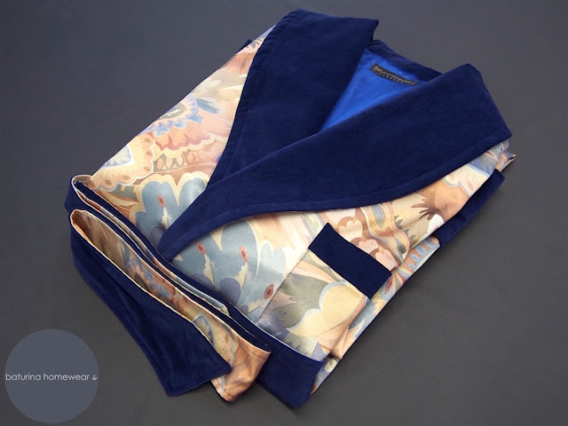 cotton luxury dressing gown mens paisley robes gold navy blue fully lined long warm smoking robe classic housecoat
