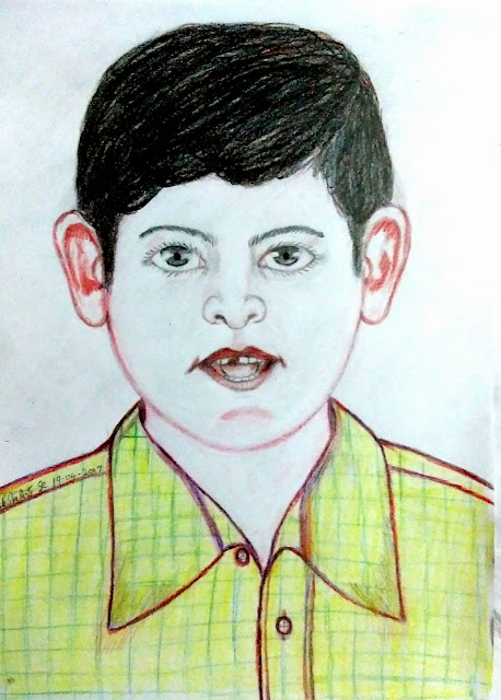PENCIL DRAWING - CREATIVE BOY