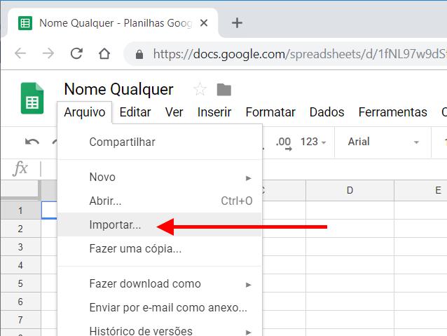 Google Sheets - Importar