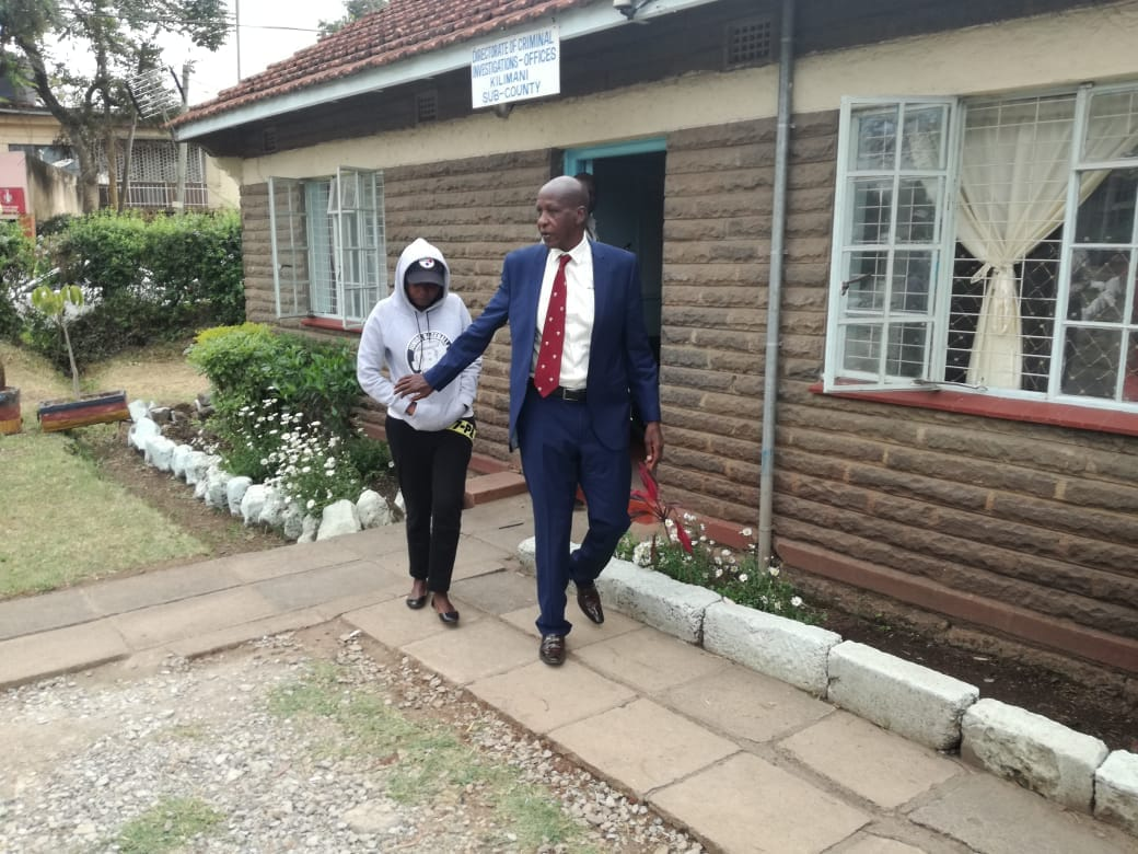 Jacque Maribe Shows Up At Police Station Wearing Joe Irungu's Cap