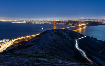 Wallpaper: Golden Gate Bridge from Slacker hill