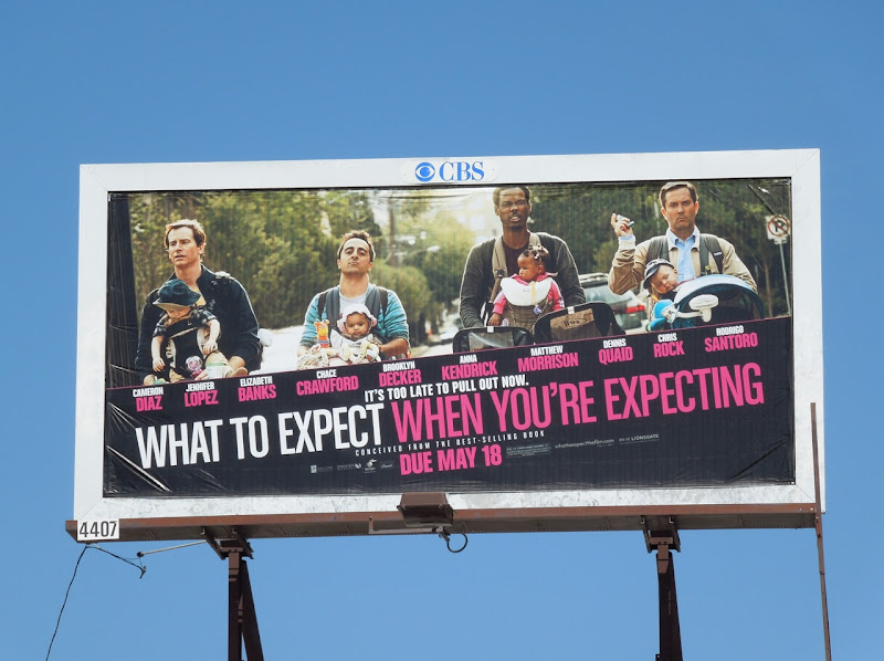 What Expect When Expecting male movie billboard