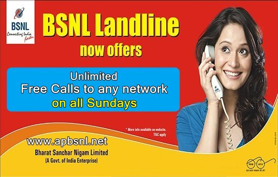 BSNL Unlimited Landline plan on all sundays