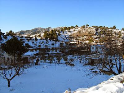 clima, Beceite, nieve, frío, nevada, está nevando, Beseit, neu, tosquera, cova del aire , huertos
