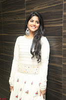 Megha Akash in beautiful White Anarkali Dress at Pre release function of Movie LIE ~ Celebrities Galleries 068.JPG