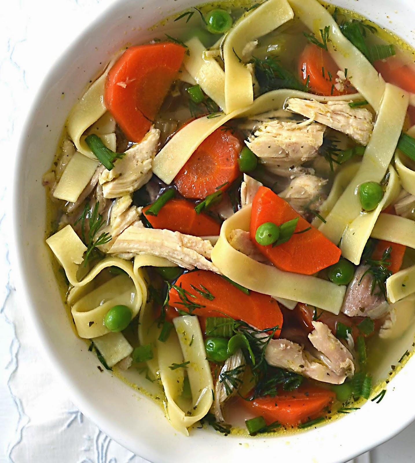Sew French: Old-Fashioned Chicken Noodle Soup