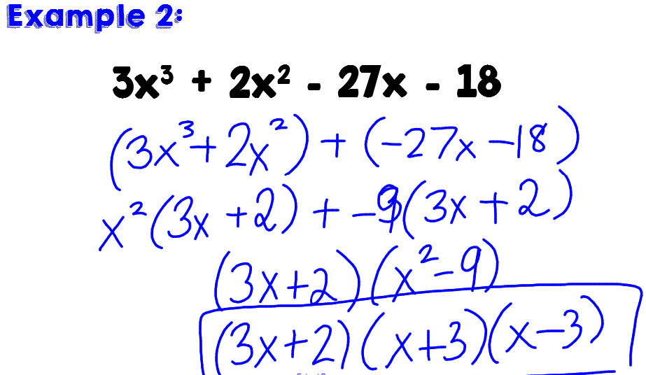 Factoring Polynomials Worksheet Algebra 2