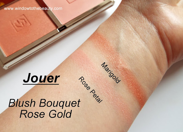 Jouer Rose Gold swatches