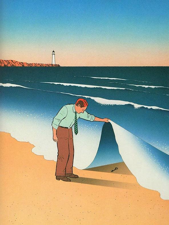 Alucinantes ilustraciones por el artista surrealista francés Guy Billout