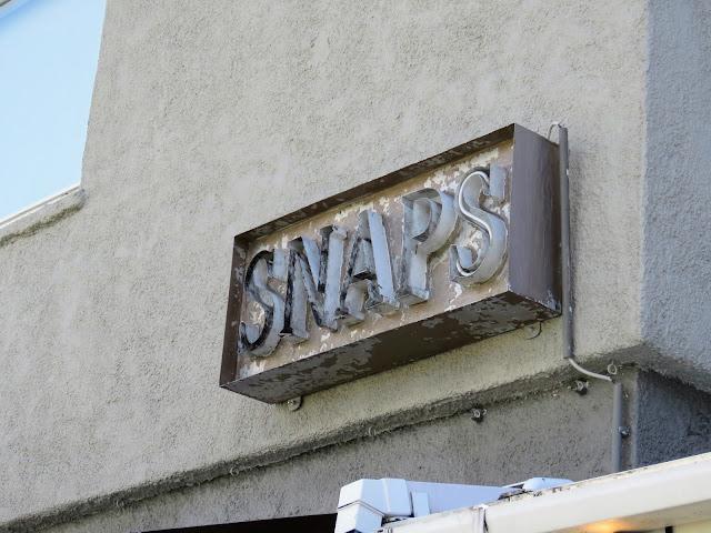 Snaps Bistro sign in Reykjavik Iceland