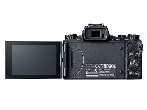 Canon PowerShot G1 X Mark III, откидной экран