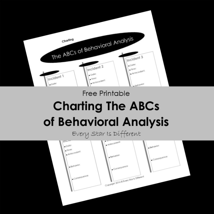 Charting the ABCs of Behavioral Analysis