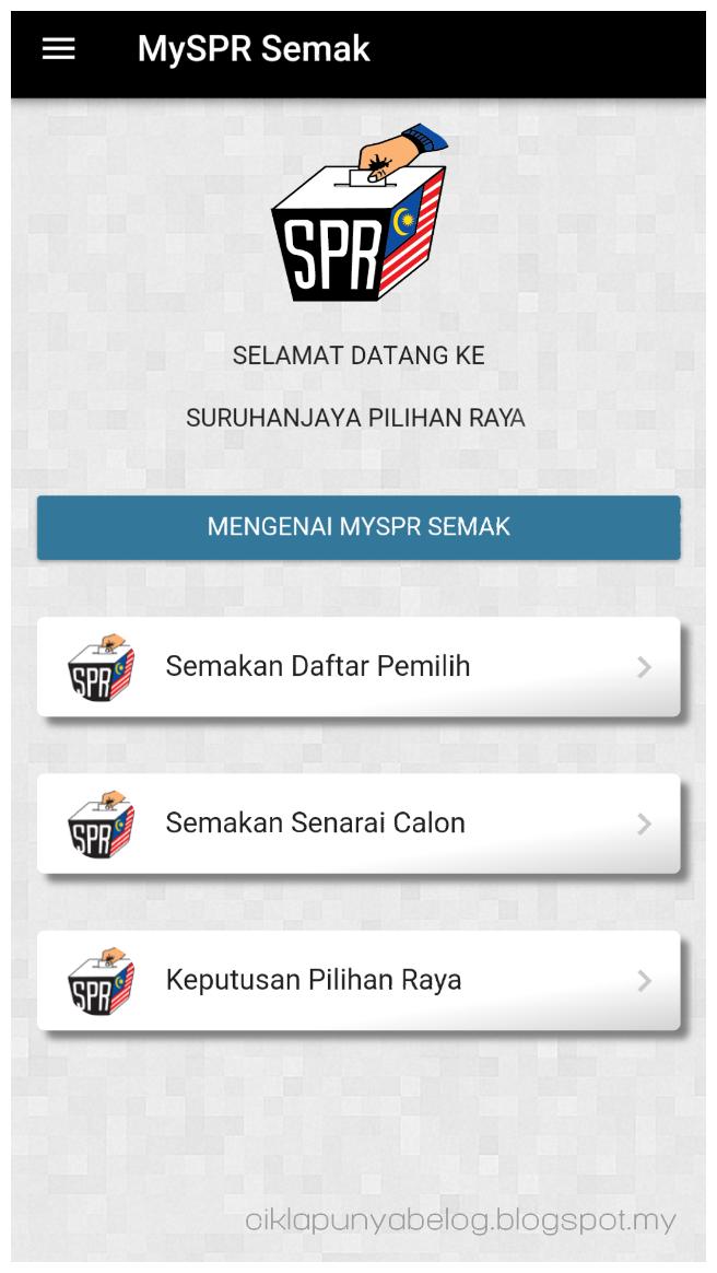 Jom semak lokasi undi dengan aplikasi MySPR SEMAK!