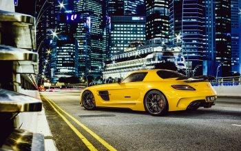 Wallpaper: Mercedes-Benz SLS AMG in town