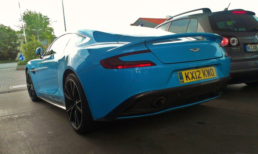 Bright Blue Aston Martin VanquishAston Martin Vanquish Blue