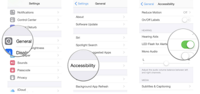 Cara Setting Notifikasi Led Flash Di iPhone, ipad, ipod touch