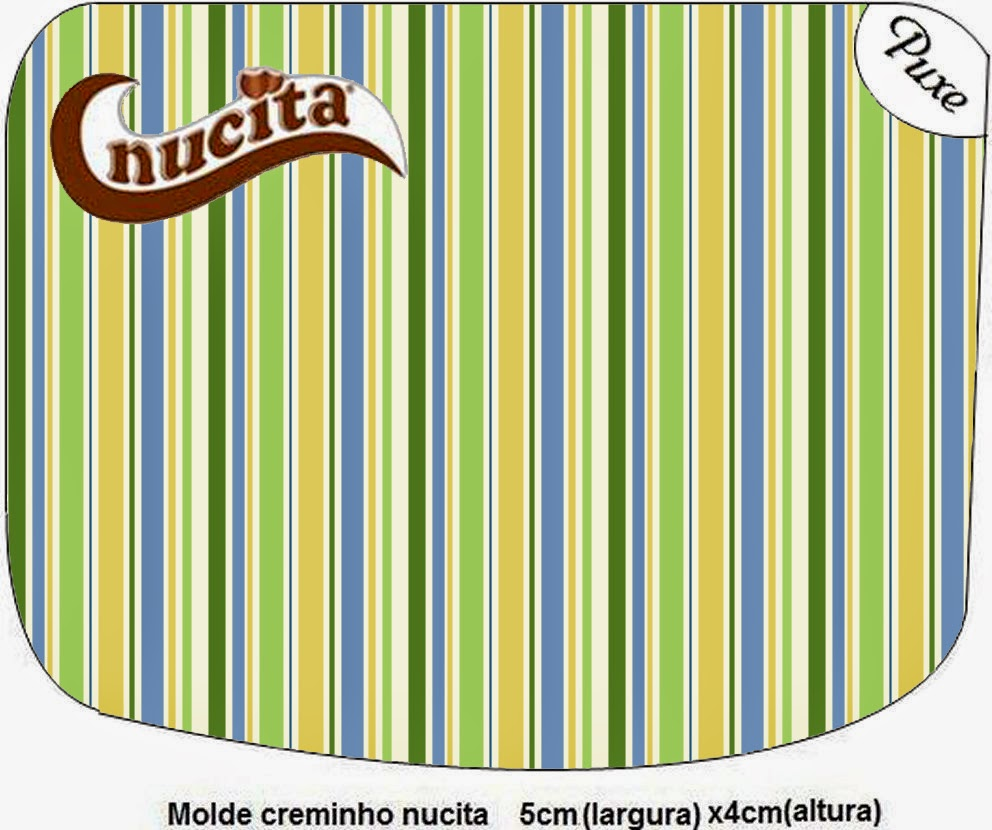 Green, Blue and Orange, Free Printable Nucita Labels.