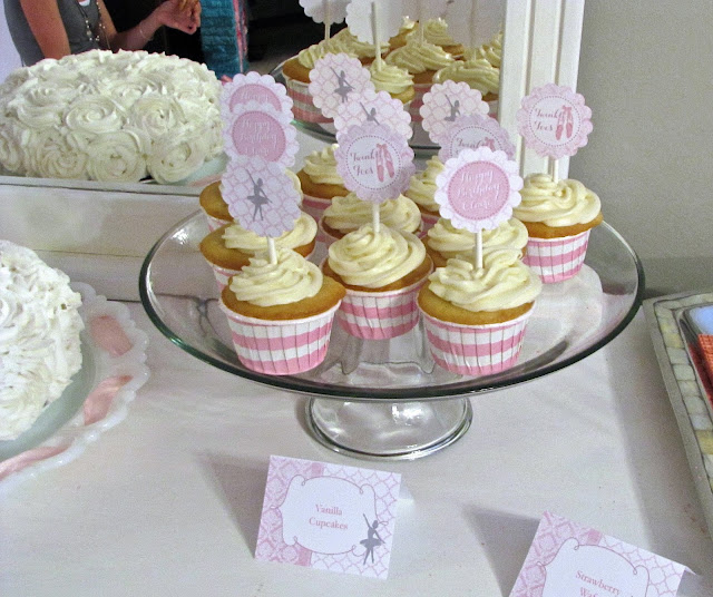 pink and white striped cupcake cups