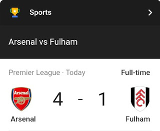 Arsenal defeats Fulham after their last defeat against Liverpool - see goal scorers and time.