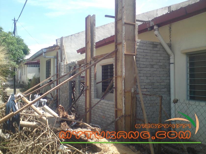 Membina Dapur Tambahan Di Lestari Perdana Seri Kembangan Budi Contoh Renovation Rumah Teres