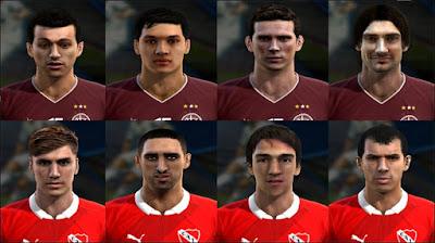 Facepack Lanus y independiente - Liga Argentina Pes 2013