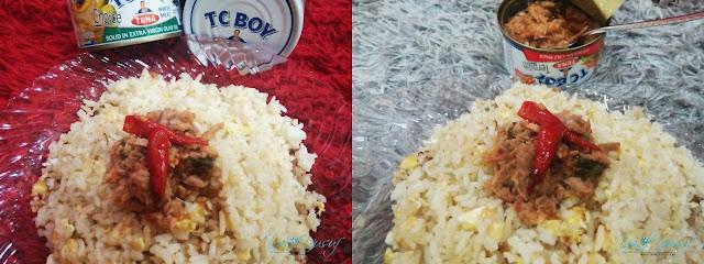 Nasi Goreng Telur bersama Tuna Cili Padi TC BOY