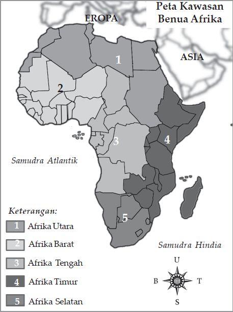 Karakteristik Benua Afrika (Letak Astronomis dan Geografis Benua Afrika, Batas-batas Benua Afrika, Luas Benua Afrika, Bentang Alam dan Iklim Benua Afrika)