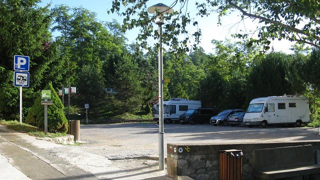 Estacionament de l'àrea d'autocaravanes de Sant Joan de les Abadesses