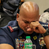PNP chief Bato Dela Rosa turns emotional during Senate hearing, won't surrender in war on drugs