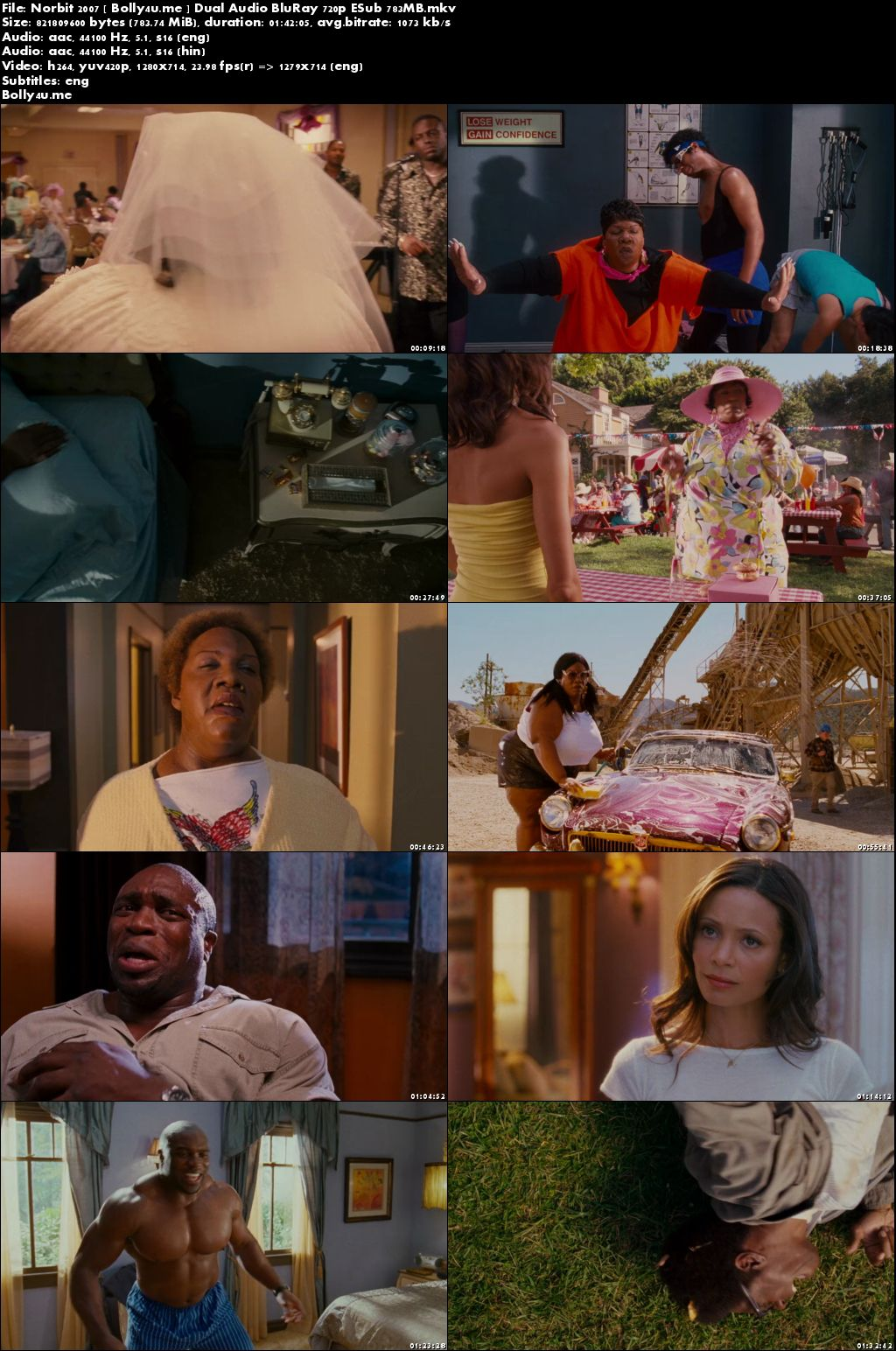 Norbit 2007 BluRay 750MB Hindi Dubbed Dual Audio 720p ESub Download